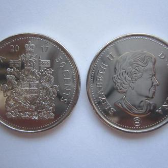 Канада 50 центов 2017г. Unc