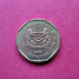 СИНГАПУР 1 доллар 2006 года