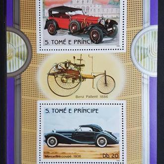 Сан Томе и Принсипи 1983 транспорт Автомобили блок Михель = 13 евро**