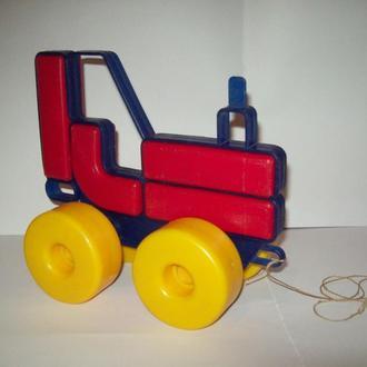Игрушка трактор дутыш конструктор СССР