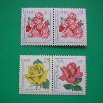 Германия ГДР Цветы MNH