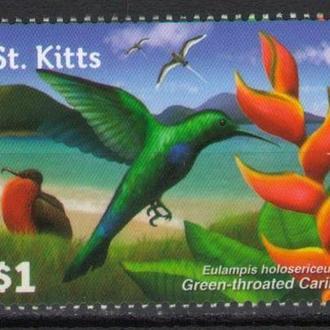 Сент-Китс ** 2015 Флора и Фауна Птицы MNH