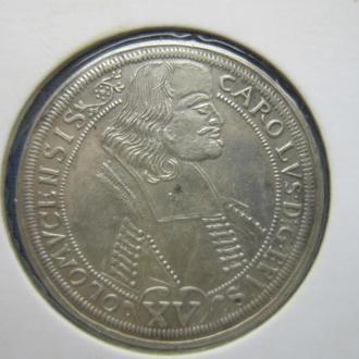 Монета орт 15 грошей Оломоуц 1694 серебро состояние