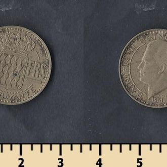 Монако 10 франков 1951