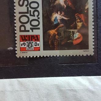 Польша 1981 филвыставка в Вене живопись одиночка Михель = 1,7 евро**