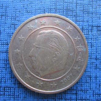 монета 2 евроцента Бельгия 2007