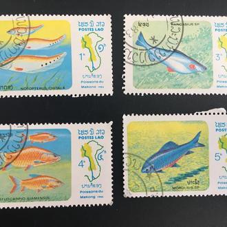 Почтовые марки Лаос 7
