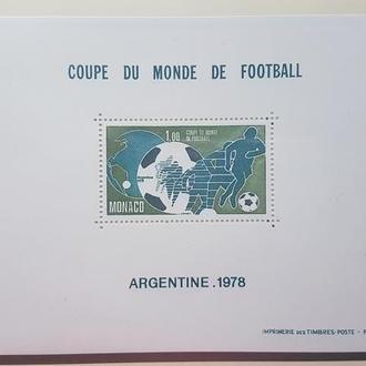 Монако 1978 ФУТБОЛ ЧМ-78 Михель = 400 евро**