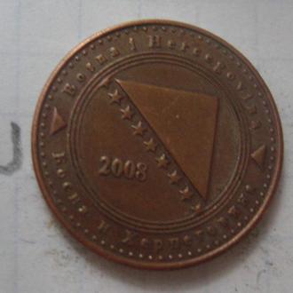 БОСНИЯ и ГЕРЦЕГОВИНА, 10 фенингов 2008 года.