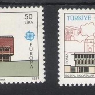 Турция - архитектура 1987 - Michel Nr. 2777-78 **