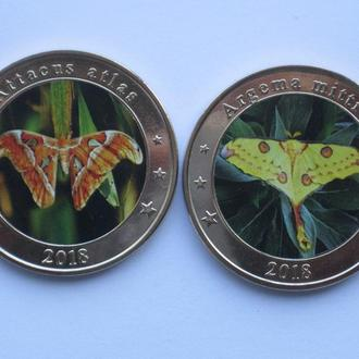 Западная Нуса-Тенгара Западные Малые Зондские Острова бабочки 2018 1 доллар 2 штуки