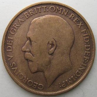 Великобритания 1 пенни 1912 год Георг V