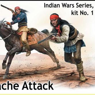 Master Box 35188 Индейские войны №1. Атака Апачей, 1/35