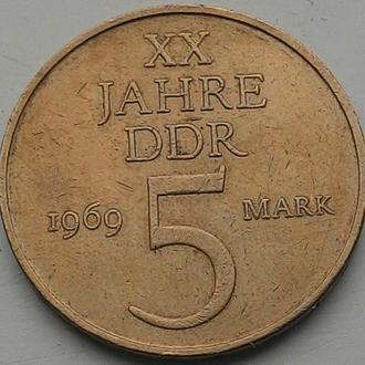 ГДР 5 марок 1969 год  СОХРАН