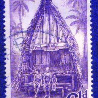 Папуа Новая Гвинея (1952) Британская колония. Дом. Архитектура
