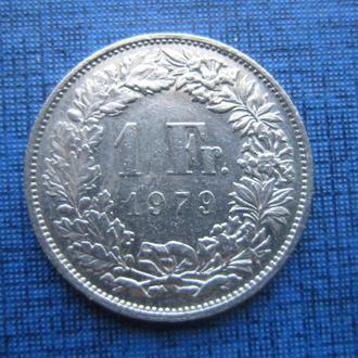 монета 1 франк Швейцария 1979