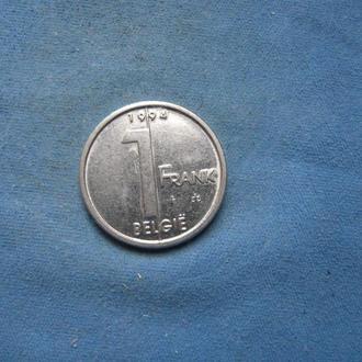 Бельгия 1 франк 1994 год