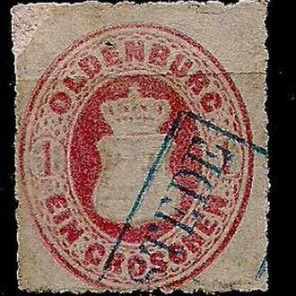 Немецкие земли, Oldenburg, 1862 г., марка № 17