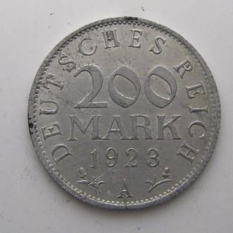 Германия 200 МАРОК 1923 год (A)