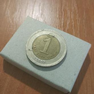 1 турецкая лира 2007