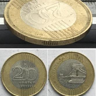 Венгрия 200 форинтов, 2009г. MAGYAR KÖZTÁRSASÁG / Би-металл