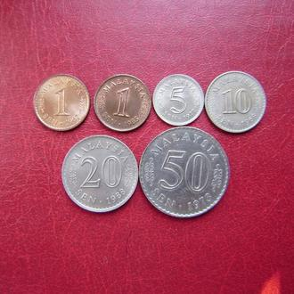 Малайзия набор монет 1967 - 1988