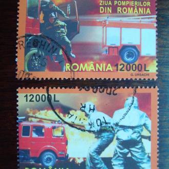 Румыния.2004г. Пожарники. Полная серия.