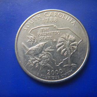 США 25 центов Южная Каролина D 2000