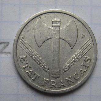 ФРАНЦИЯ. 1 франк 1943 г.