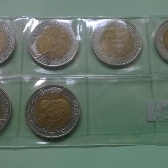 3 монты 2 RUYTER Vlissingen 2007 год и 3 монеты 2 REMBRANDT Leiden 2006 год Рюйтер / Рембрандт UNC