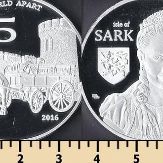 Сарк о-в (Нормандские о-ва) 5 фунтов 2016
