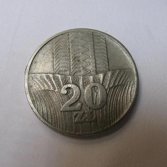 20 Злотих Злотых Польща Польша 1974 рік