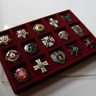 Планшетка ВИНТОВЫХ орденов и медалей.
