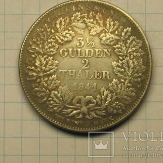 3 1/2 гульдена 2 талера 1841 копия