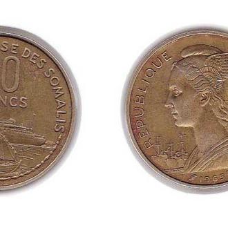 Французский Сомалиленд 20 франков 1965