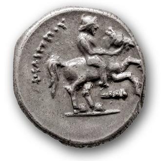 (А)2524 - МАКЕДОНИЯ. Филипп II (359—336 до н.э.) AR 1/5 Тетрадрахмы