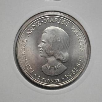 Дания 5 крон 1964 г., UNC, 'Свадьба Принцессы Анны Марии'