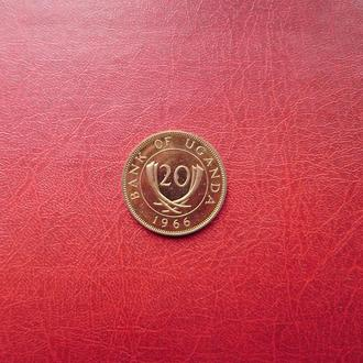 Уганда 20 центов 1966 UNC