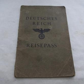 Reisepass (Deutsches Reich) 1937г. Оригинал!