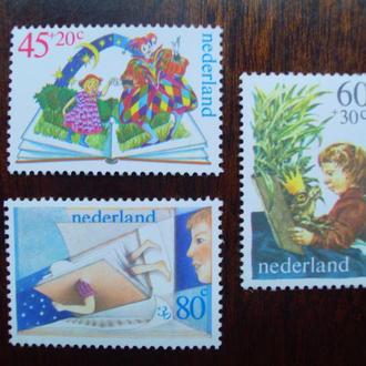 Голландия.1980г. Дети и школа. MNH