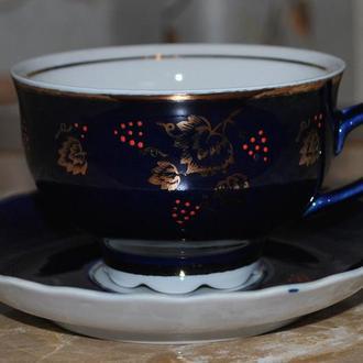 чашка с блюдцем, чайная пара. есть 3 шт. Довбыш