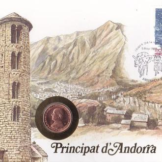 Андорра 25 сентимов 1986