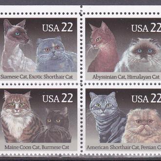 США кошки MNH