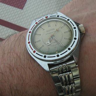 Часы Восток Антимагнитные Амфибия 17 камней СССР с браслетом Состояние Исправные