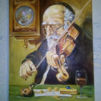 """картина """"Еврей играющий на скрипке"""""""