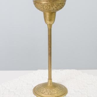 Старый бронзовый подсвечник, бронза, Германия, 21 см 0071 пд