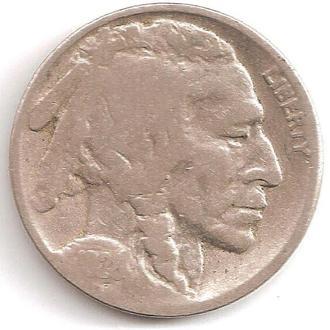 Монета 5 центов (США) 1928 Бизон (Индеец) (4)