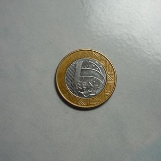 Бразилия 1 реал 2007 биметалл