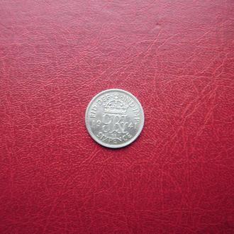 Великобритания 6 пенсов 1941