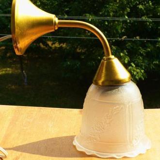 Бра  светильник ссср - латунь